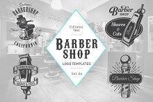 Barbershop logo set