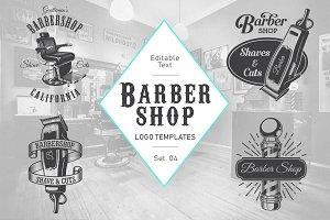 Barbershop logo set