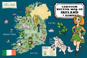 Cartoon map of Ireland +bonus