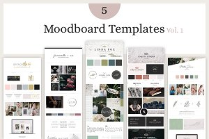 Mood Board Template Bundle - Vol. 1