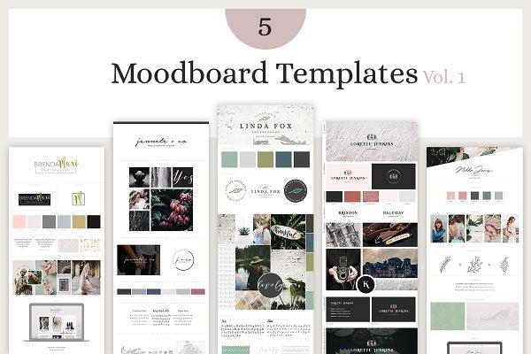 Branding Mockups: amber&ink - Mood Board Template Bundle - Vol. 1