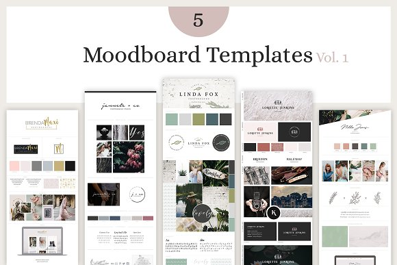 mood board template bundle vol 1 presentation templates