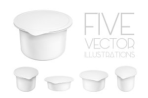 Mock up blank plastic containers
