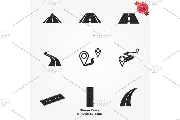 Road Icons Set