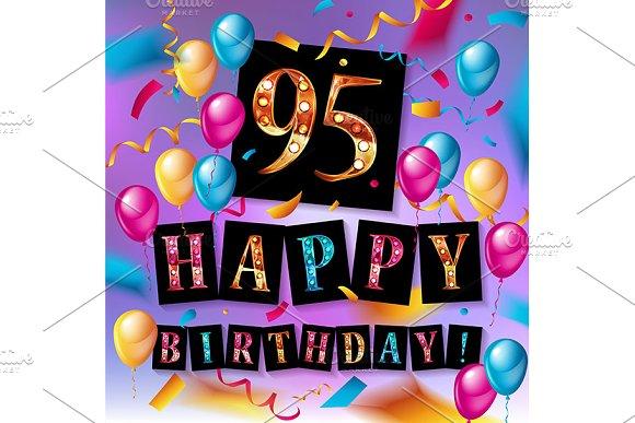 Happy birthday 95 years anniversary