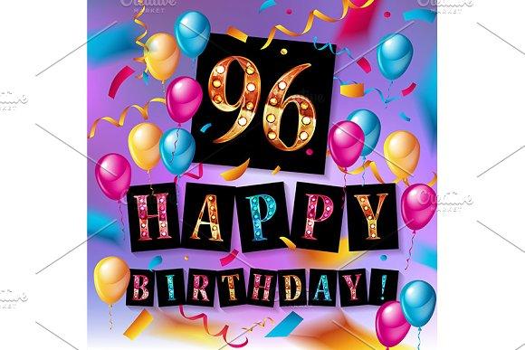 Happy birthday 96 years anniversary