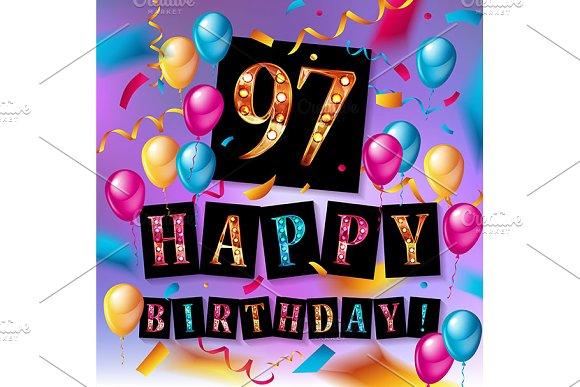 Happy birthday 97 years anniversary