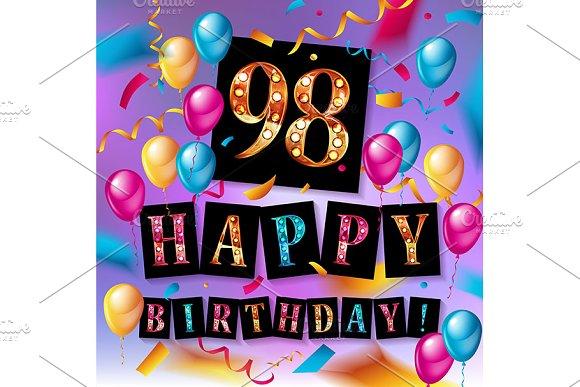 Happy birthday 98 years anniversary