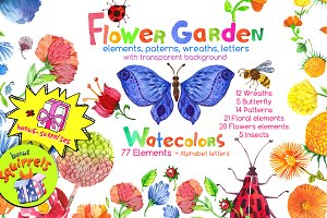 Flower Garden watercolor collection