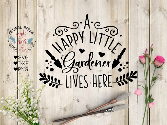 A Happy Little Gardener Cut File