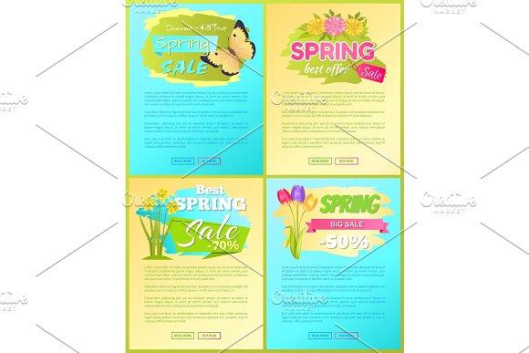 Big Sale Spring Discount Offer Premium Posters Set