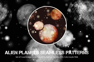 SALE! 5 planets patterns | JPEG