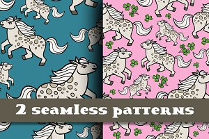 Pony seamless pattern