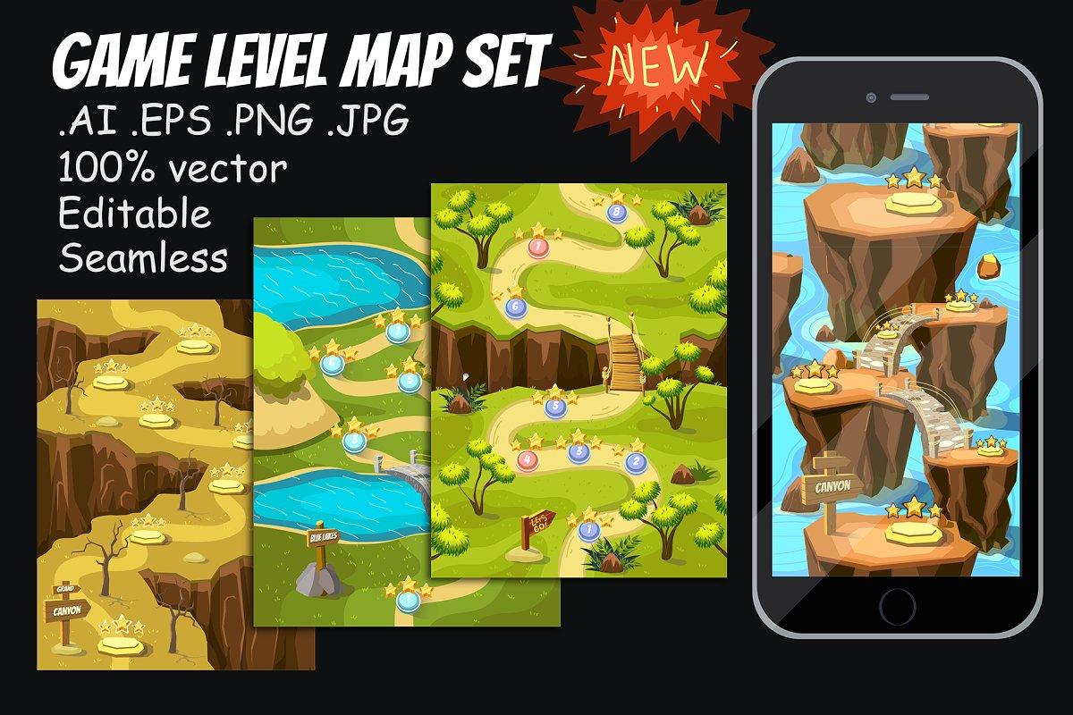Game Level Map Set + Kit