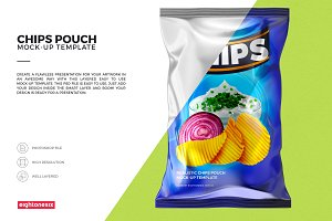Realistic Chips Pouch Mock-Up