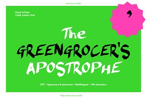 The Greengrocer's Apostrophe