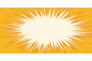 white burst orange background pop art