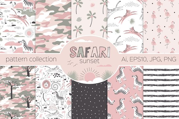 Safari Sunset Pattern Kit