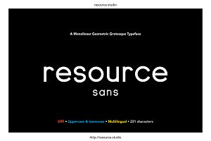 Resource Sans
