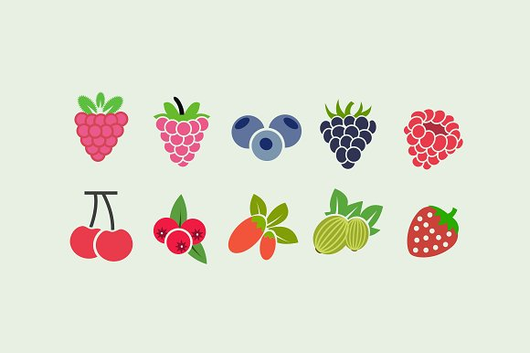 10 Berry Icons