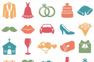 Wedding Icons Photoshop Brushes