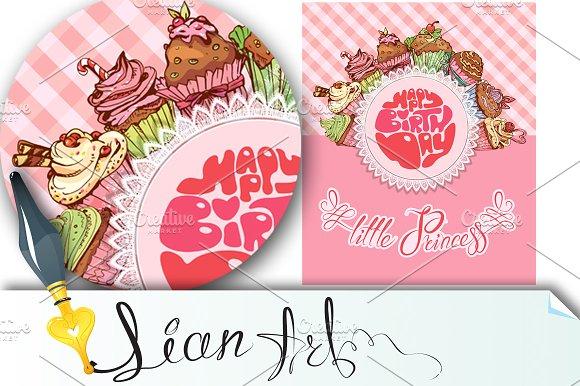 Happy birthday little princess Card Templates on Creative Market – Happy Birthday Princess Card