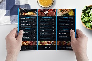 trifold menu template photos graphics fonts themes templates