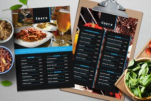 A4 Restaurant Menu Template