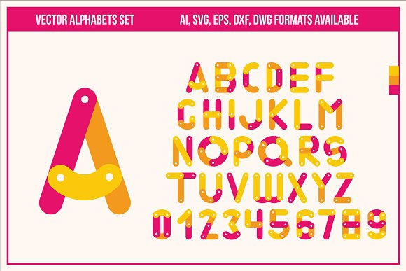 Vector Fonts Set In Ai SVG EPS