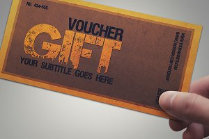 Multipurpose retro gift voucher