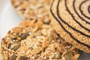 Nut cookies closeup