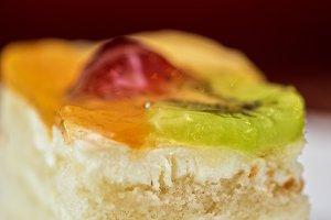 Colorful fruit supcake
