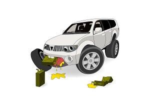 Gas guzzler SUV