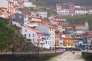 Village of Cudillero in Asturias,