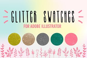 Glitter sparkling swatches for AI