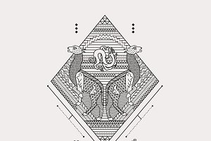 Byzantine Fabric Illustration