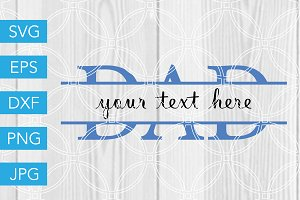 Dad SVG Cut File Cricut Silhouette