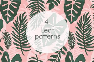 4 Jungle seamless patterns