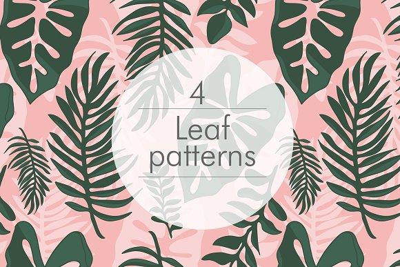 4 Jungle Seamless Patterns