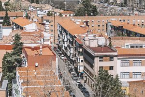 rooftops of the old part of Madrid