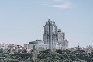 Spain building in Madrid Spain.