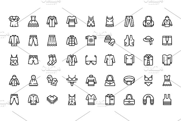Clothes Fashion Accessories Icons