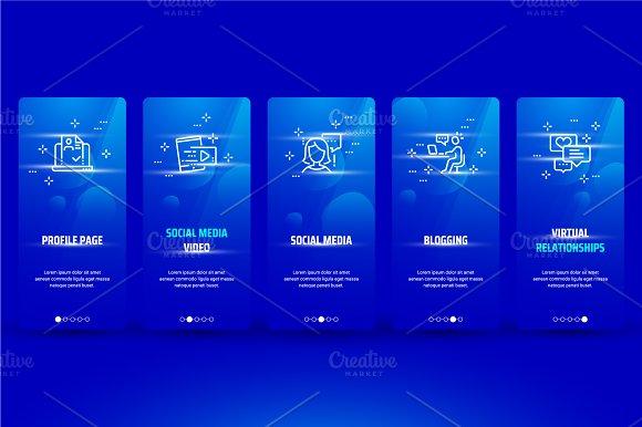 Social Metaphors On Blue Cards