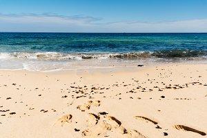 Beautiful beach, sea and blue sky