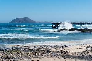 Pier on beach of Corralejo