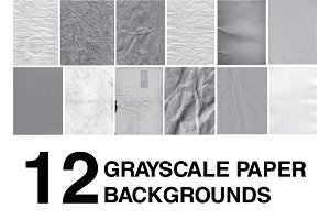 12 Grayscale Paper Backgrounds