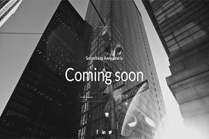 B&W Coming Soon Template