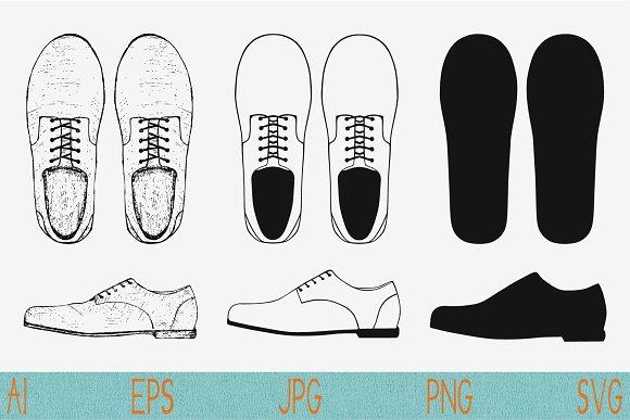 Men's Shoes Vector SVG PNG JPEG