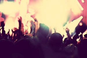 Concert, disco party