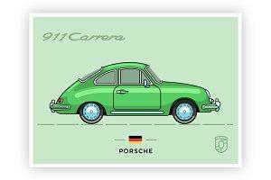 Retro Porsche Carrera 911